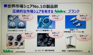 日本電産のシェア、株主向け資料