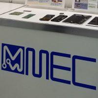 メックのロゴと基板